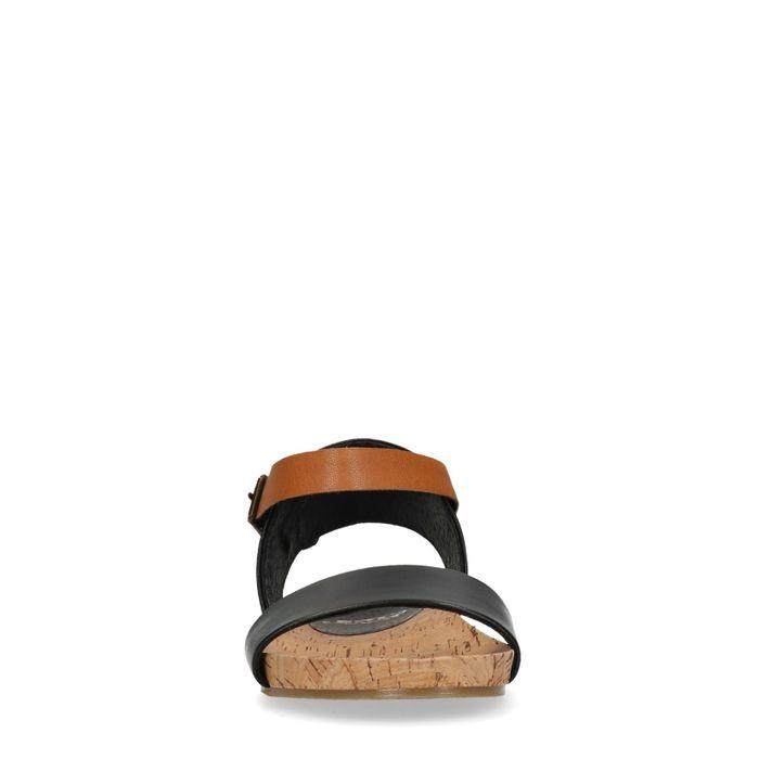 Sandales en cuir avec bride - noir