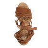 Sandales à talon en daim - cognac