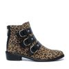Bottines léopard avec boucles