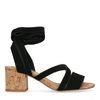 Sandales en daim avec talon - noir