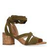 Sandales en daim avec talon cubain - vert