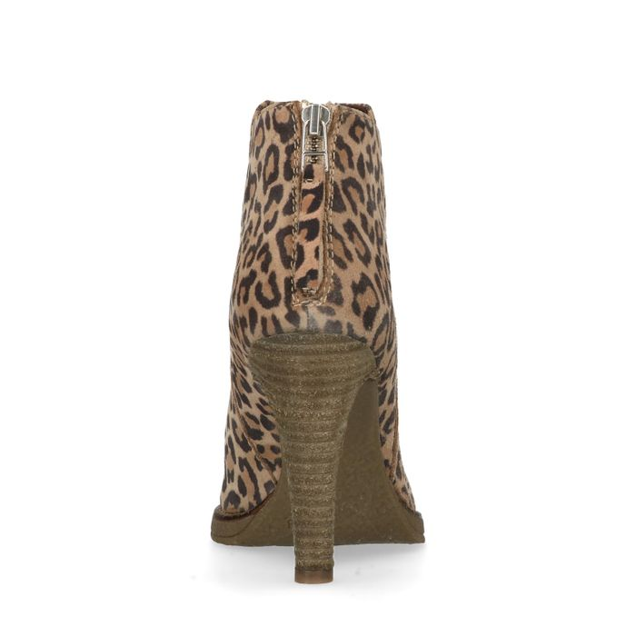 Stiefeletten mit Absatz und Leopardenmuster