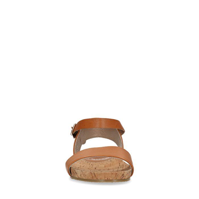 Cognacfarbene Sandalen