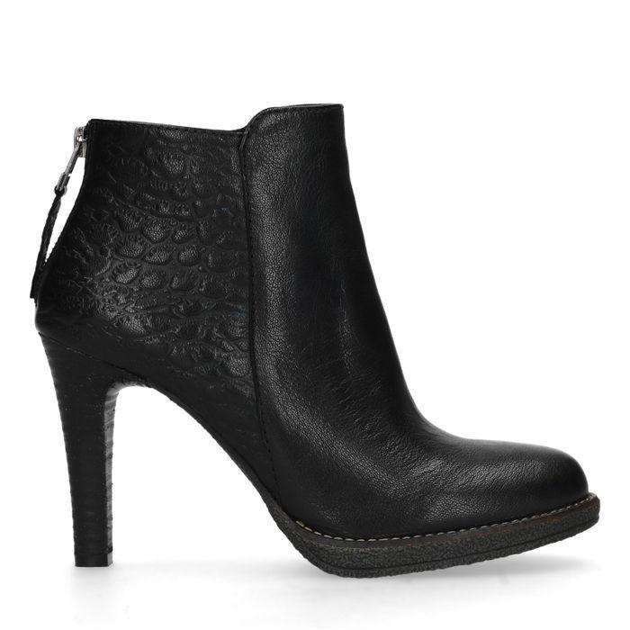 Stiletto-Stiefeletten - schwarz