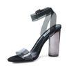 Steve Madden Clearer zwarte sandalen met hak