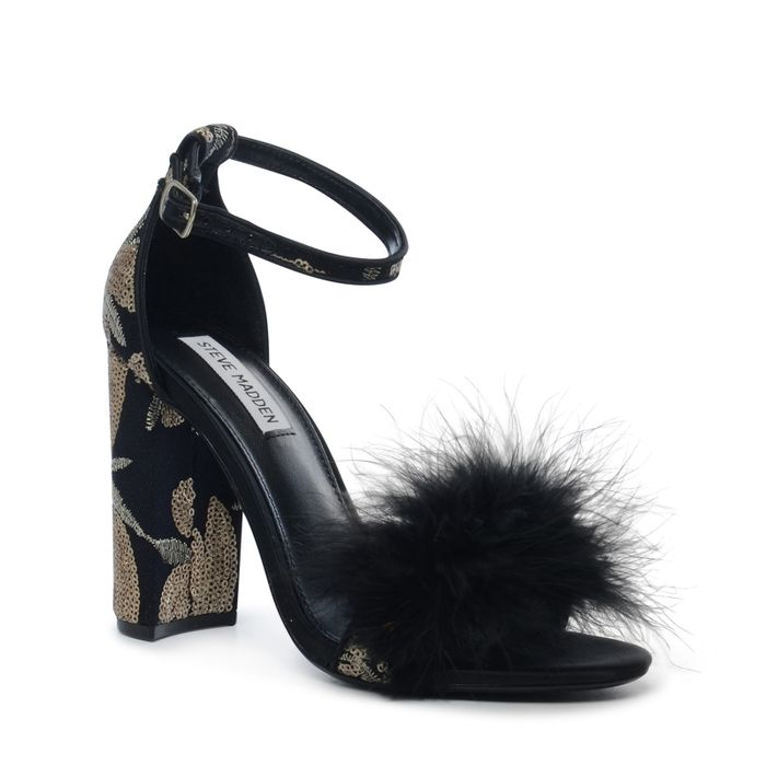 Steve Madden Carabu zwarte sandalen met hak