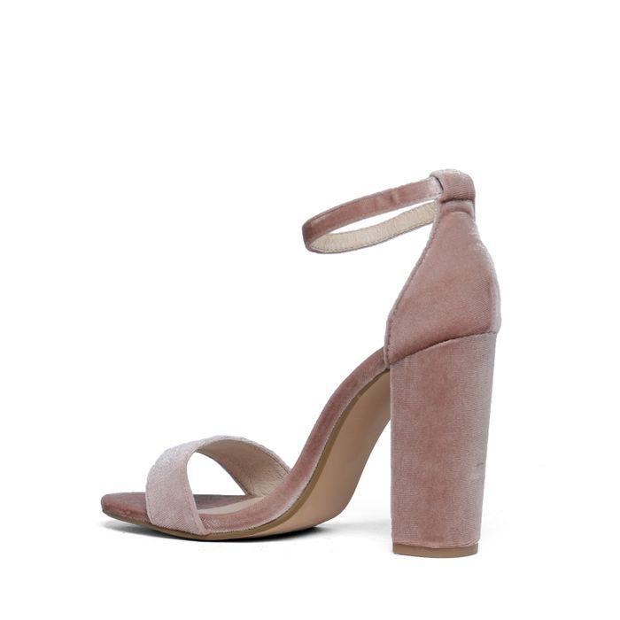 Steve Madden Carsson oudroze velvet sandalen met hak