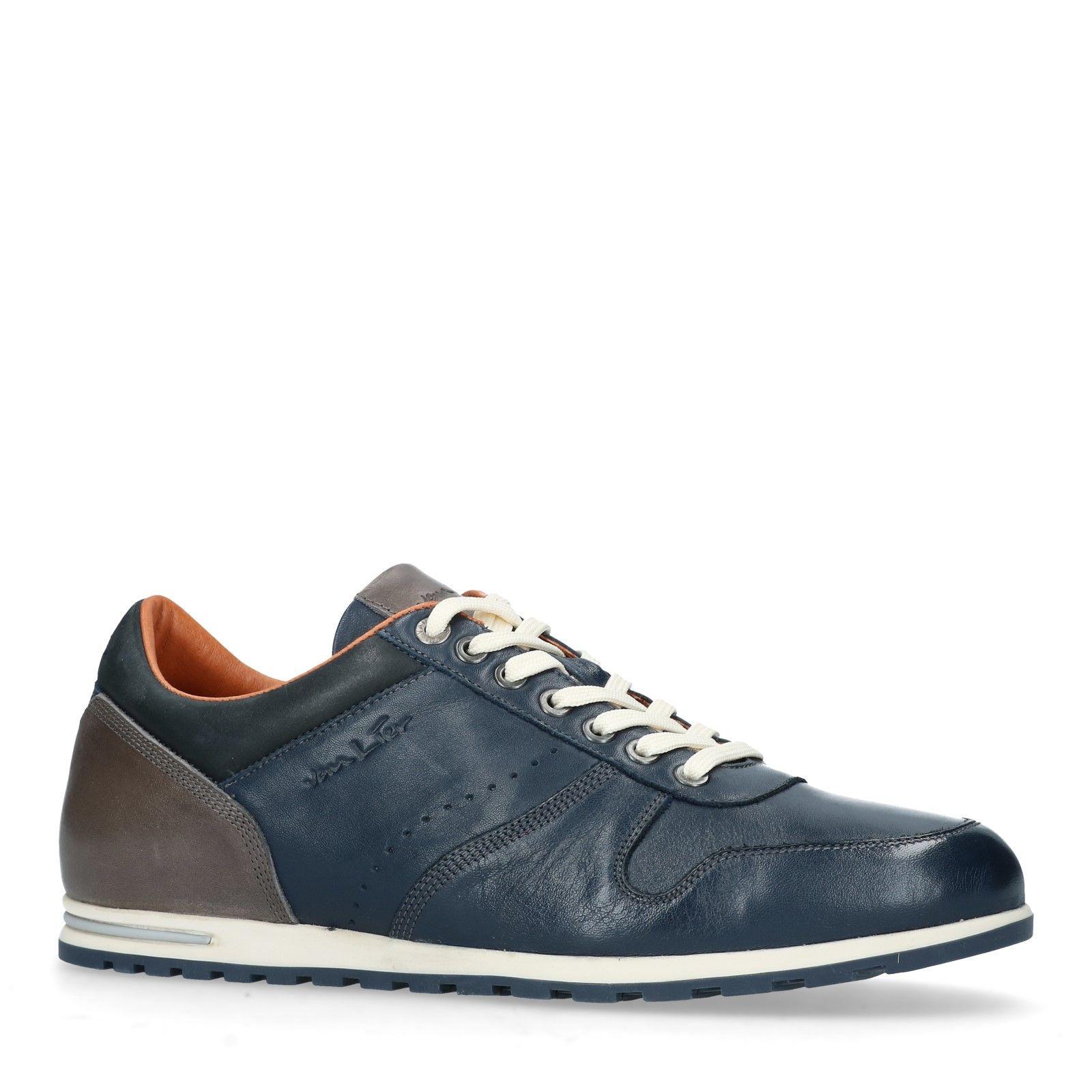 Leren Manfield Sneakers Leren Blauwe Sneakers Blauwe Heren 0Ypwqw8H