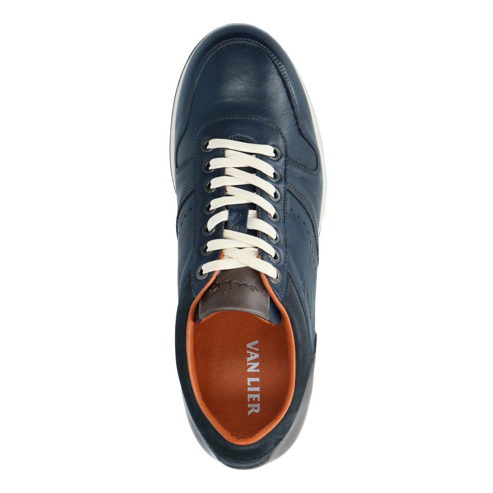 leren sneaker heren blauw