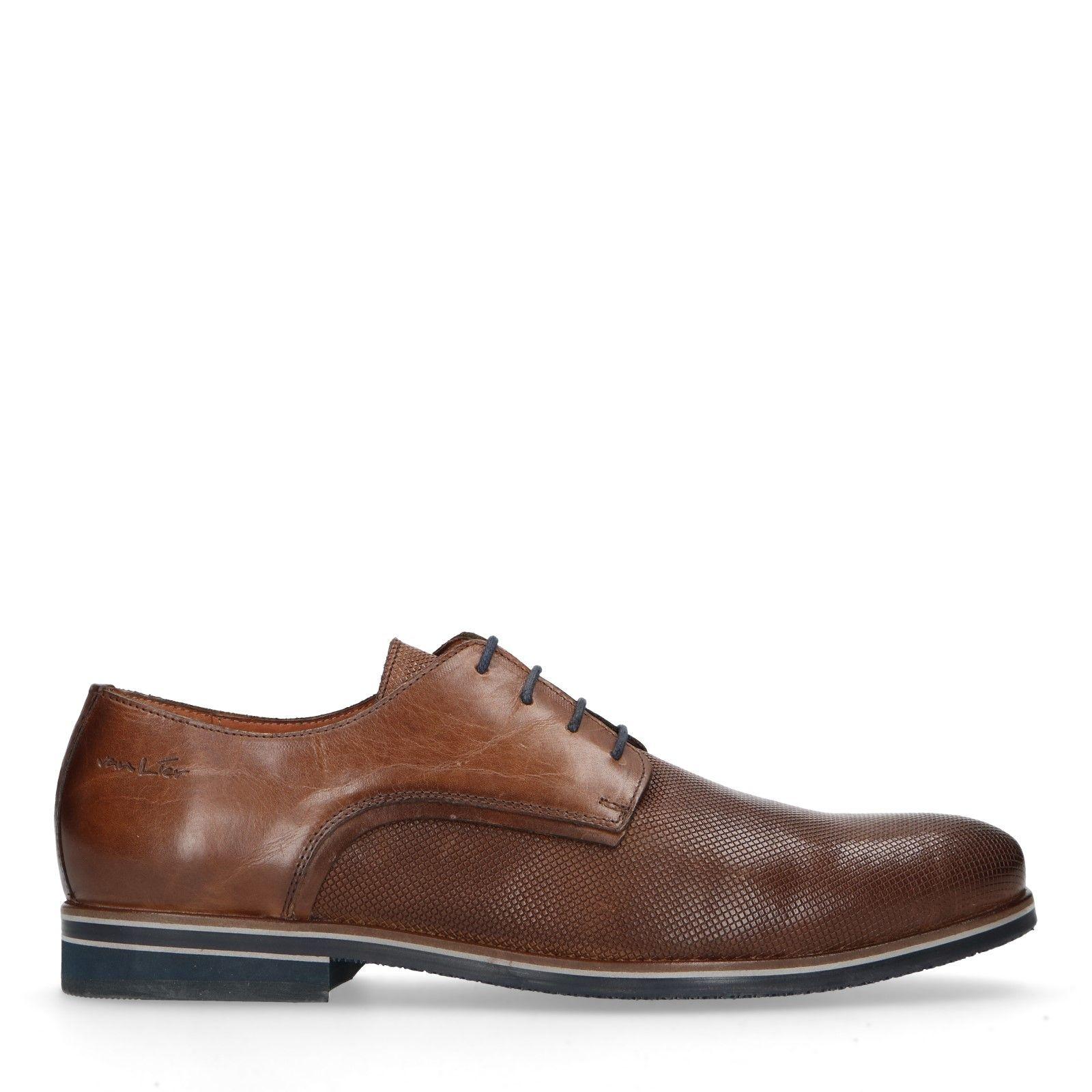 Grijze Van Lier Geklede schoenen 7420 grijs Nubuck