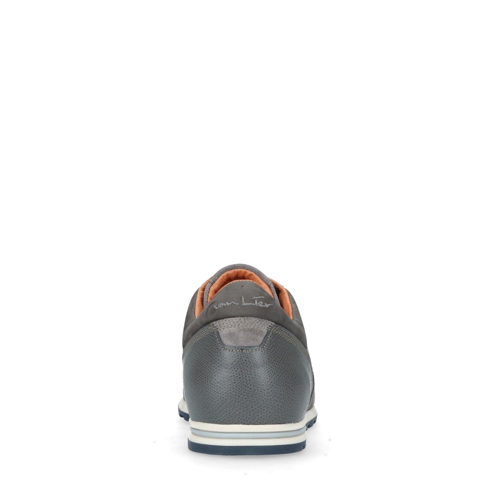 Manfield Heren Sneakers Grijze Sneakers Leren Grijze Heren Leren Manfield q8Hwg0