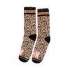 XPOOOS sokken met bloemenprint en poezen