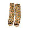 XPOOOS oranje sokken met bloemenprint