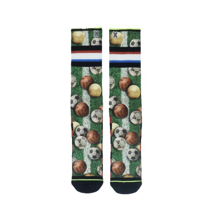 XPOOOS Chaussettes avec imprimé football - vert