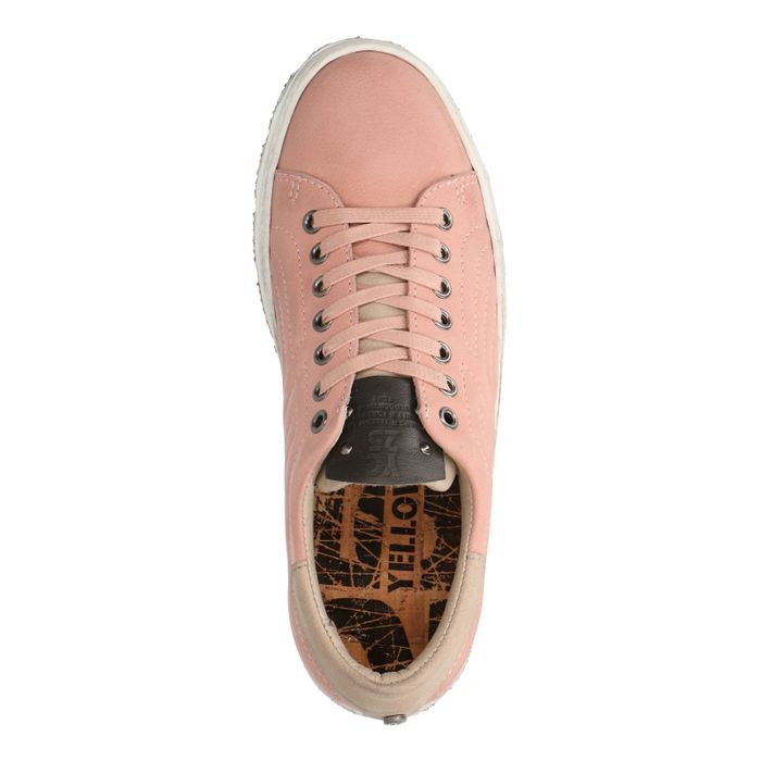 Yellow Cab New Check Y22098 roze lage sneakers