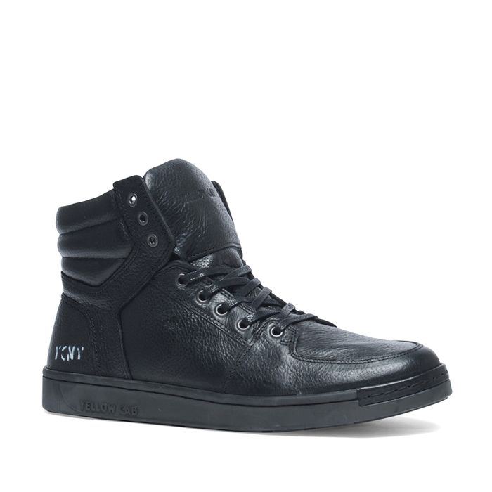 Yellow Cab leave zwarte sneakers
