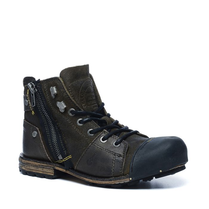 Yellow Cab bottines à lacets - marron